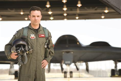 B-2 Spirit Pilot | A B-2 Pilot Stands in front of the