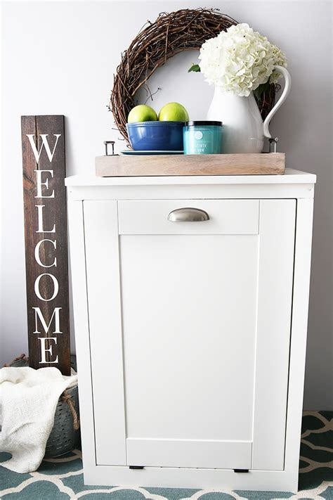 How to Build a Custom Tilt-Out Trash Cabinet - Just a Girl
