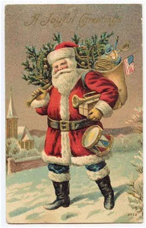 Free Victorian Clip Art - Santa Clause in Red - The