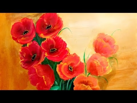 Red Poppies Lest We Forget Fridge Magnet Drawing of Red