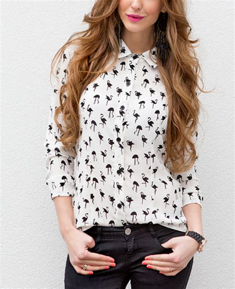 Exclusive Flamingo Blouse   Musthaves For Real