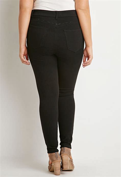 Forever 21 Plus Size Classic High-waisted Skinny Jeans in