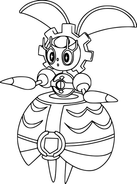 Pokemon Magearna coloring page