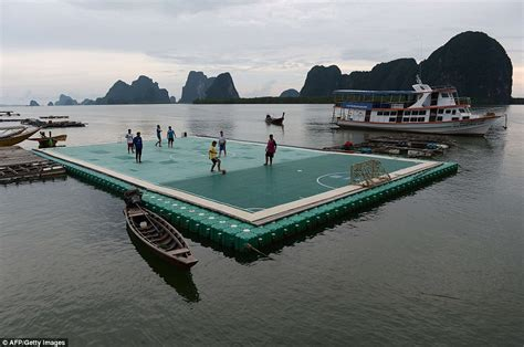 Thailand hope floating football pitch attracts tourists