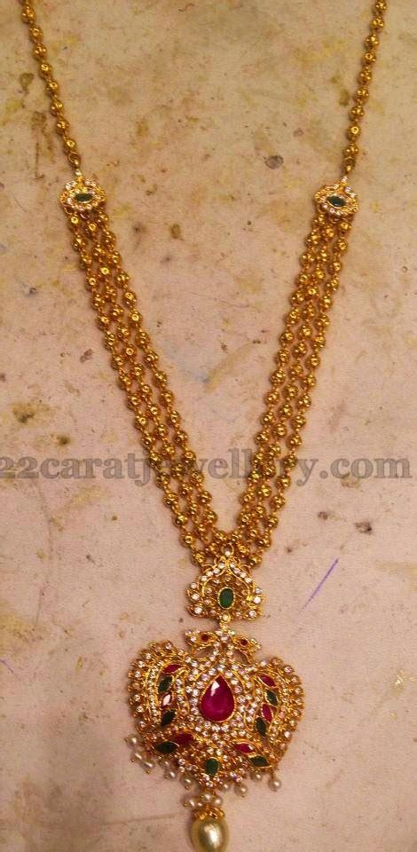 Simple Long Chain with Locket - Jewellery Designs