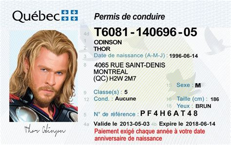 Quebec Drivers License – OLD – ID Viking