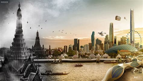 The past, present and future of 7 cities in one photo