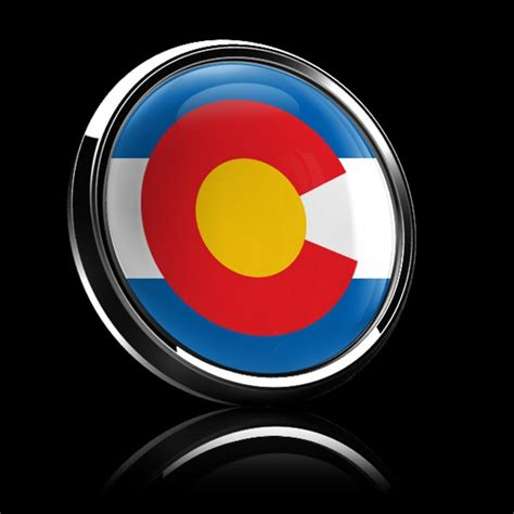 Magnetic Car Grille Dome Badge-Flag Colorado