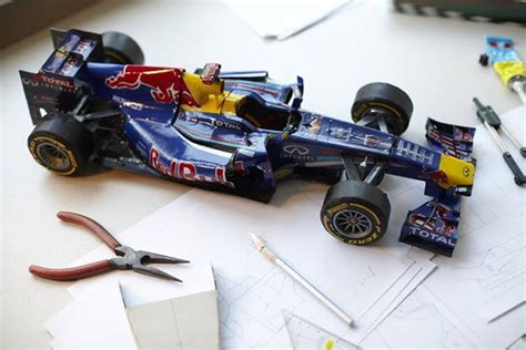 Building Model Formula One Racers from Cereal Boxes and Paper