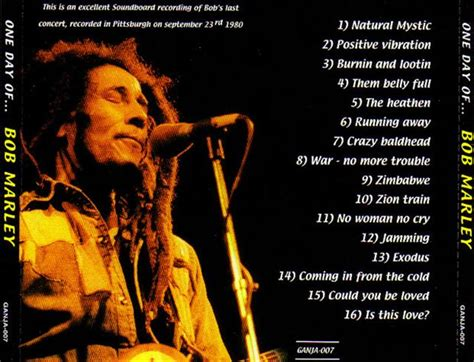 Bob Marley / One Day Of The Last Concert 1980 / 1CD