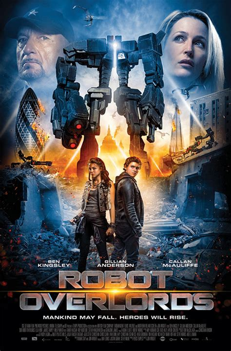 Jon Wright's Robot Overlords (2014) Movie Poster And Cast